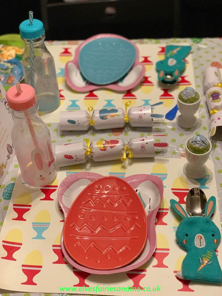 Table Laid for Easter Bunny Breakfast