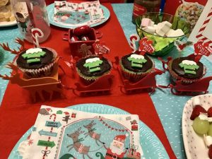 quick and easy North Pole Breakfast ideas. North Pole Cupcakes